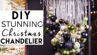 How To Make A Modern Christmas Ball Chandelier  - Christmas Decorations