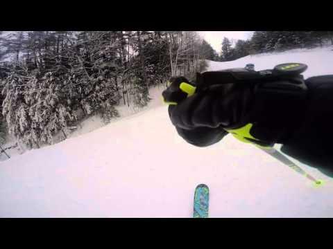 Ski video at Attitash Mountain resort.