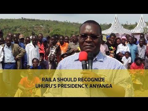 Raila should recognize Uhuru's presidency, Anyanga