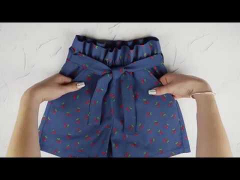 Как сшить летние шорты Саманта с поясом