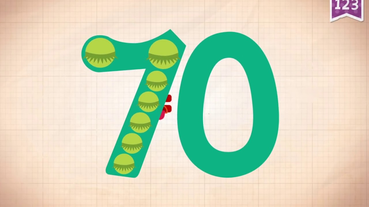Learn Number 70 In English  U0026 Counting  Math By Endless