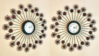 DIY Floral Designer Wall Clock using cotton buds / Home Decoration Ideas | #019 |