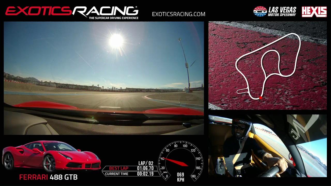 Jamie Foxx Driving A Ferrari 488 Gtb At Exotics Racing Las Vegas Youtube