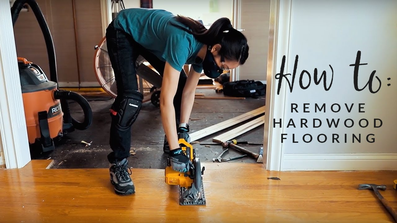 How To Remove Hardwood Flooring The