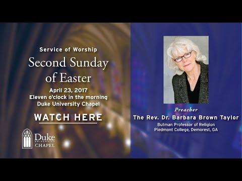 University Worship Service  42317  Barbara Brown Taylor