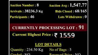 Spices Board India Bodinayakanur - E Auction Live -VGCPC  22/10/2020