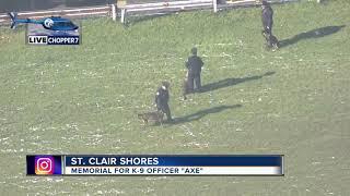 Police finalize memorial service for fallen K9 Officer Axe
