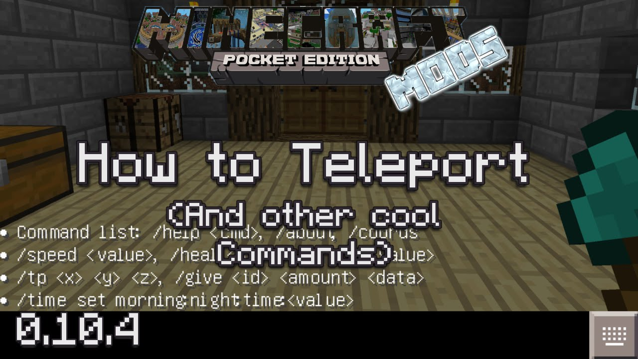 Minecraft PE Mods How To Teleport And Other Cool Commands YouTube - Minecraft player teleport command