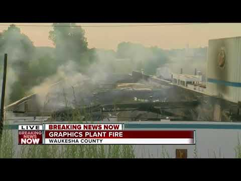 Overnight fire destroys NCL Graphic Specialties Inc. in Pewaukee