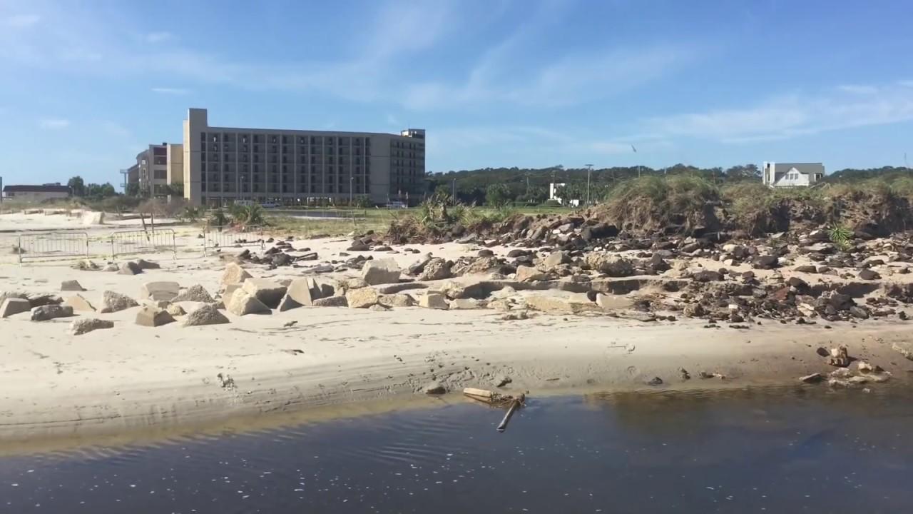 Hurricane Matthew Destroys Springmaid Pier Storm Damage Myrtle Beach Demolition