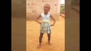 Young girl dancing to Olamide's konkobility