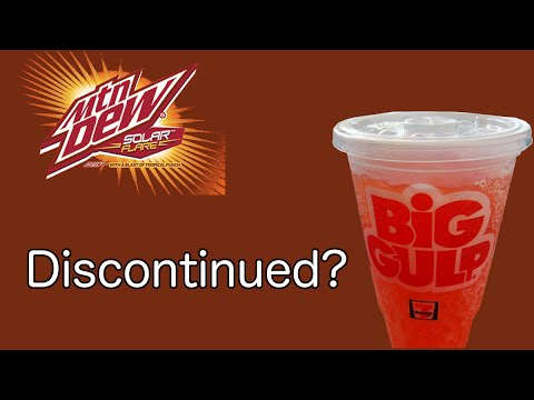 mtn dew solar flare is discontinued youtube
