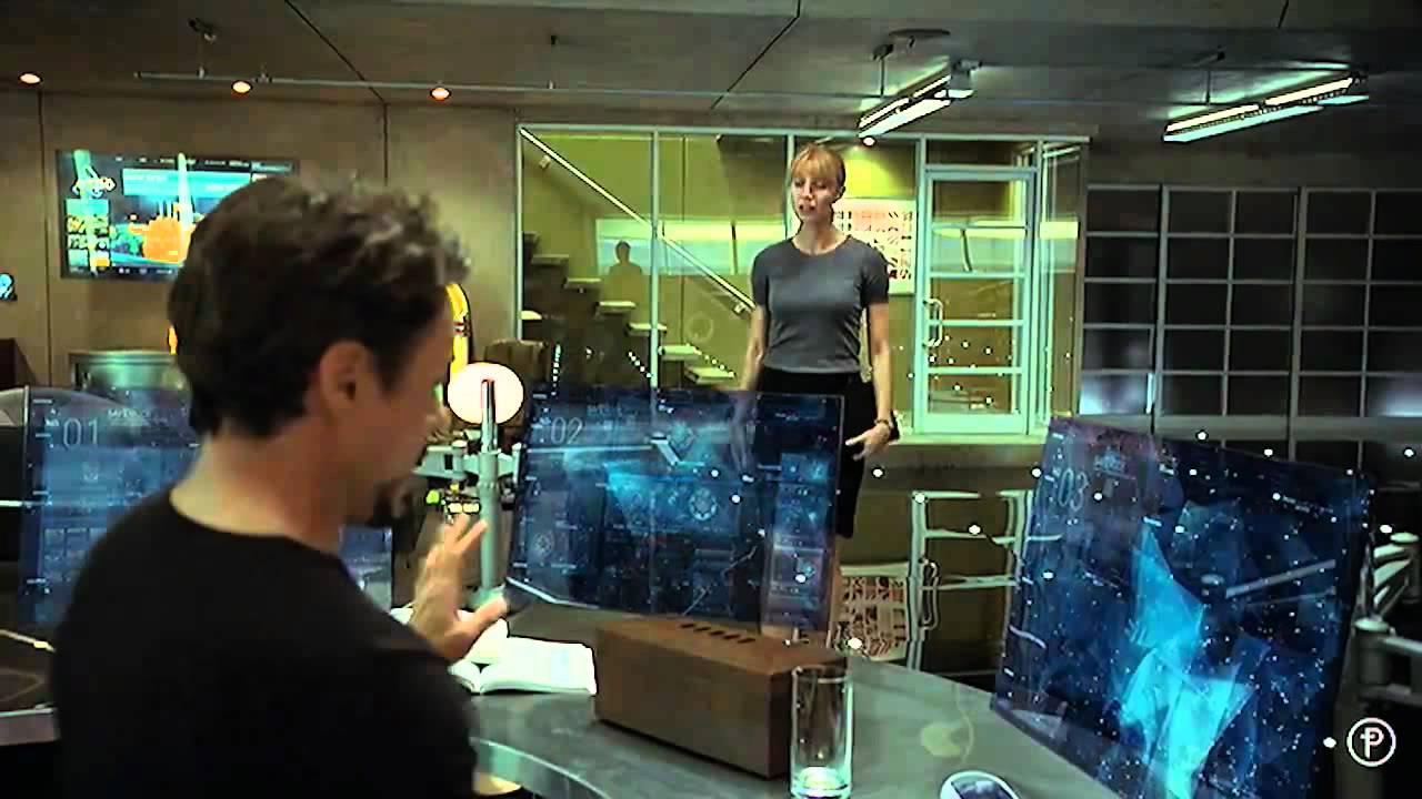 Iron Man 2 Amazing Interfaces & Holograms (Pt. 1 of 3 ... Iron Man Holographic Computer