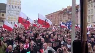 Polacy Przeciw Imigrantom - Cała manifestacja bez cięć Warszawa 12.09.2015 cz.7/7