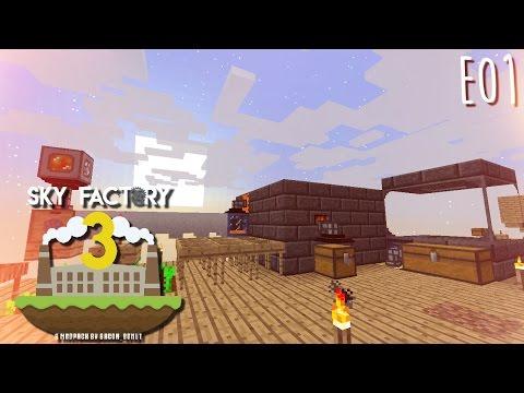 SkyFactory 3 - E01 - Tinker's Tank, Smeltery, and Auto Lava (Modded Minecraft 1.10.2)