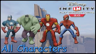 Disney Infinity 2.0 Marvel Super Heroes All Characters (Gameplay)
