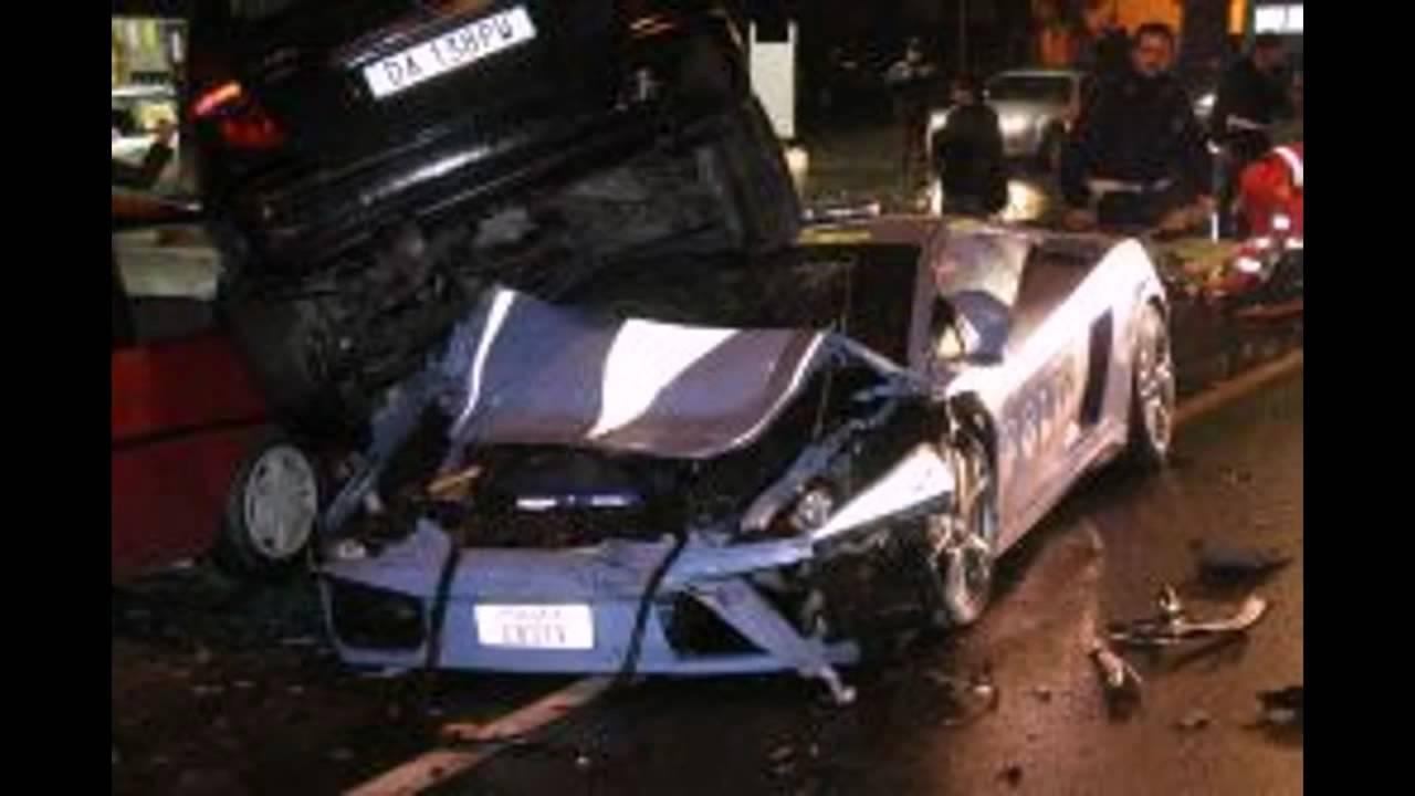 incredible italian police lamborghini crash. - youtube