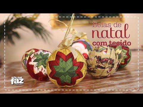 Bolas de Natal com Tecido (Márcia Tuskenis)