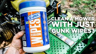 Can We Clean a Zero Turn Entirely with GUNK® Wipes?