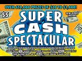 Live! Super Cash Spectacular Instant Lottery Scratch Off Tickets: Predicting 2 Winners #57 & #58