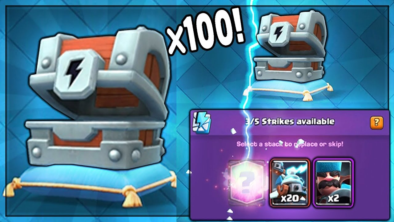 OPENING x100 NEW LIGHTNING CHESTS!   Clash Royale   NEW LIGHTNING CHEST LEGENDARY?? MASS OPENING!