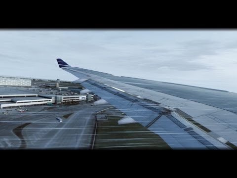 A340 landing in Montreal - Fast approach