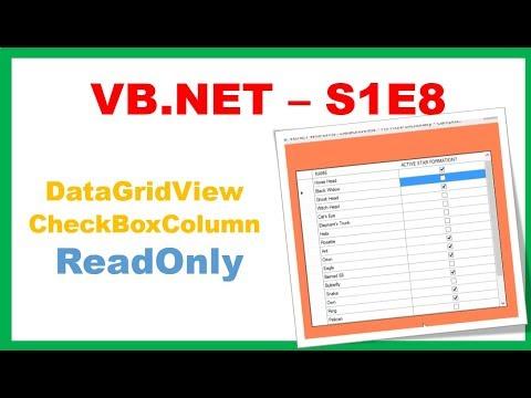 VB NET S1E8 : DataGridViewCheckBoxColumn - Readonly CheckBoxes