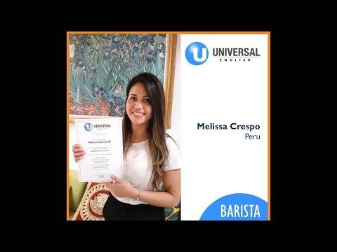 Universal Barista student: Melissa Crespo from Peru