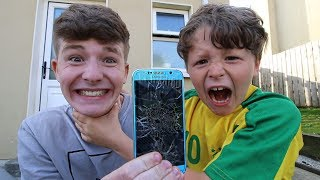 One of TheNewAdamb99's most viewed videos: I broke my little brother's phone (He nearly cried...)
