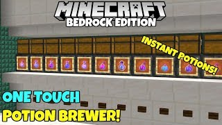 Minecraft Bedrock: Simple And Fast Potion Brewer! One Wide, One Touch Tutorial! MCPE Xbox PC