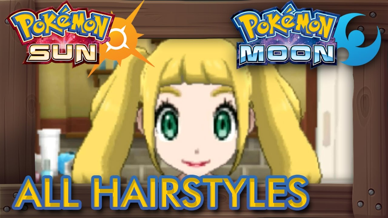pokémon sun and moon - all hairstyles (male & female)