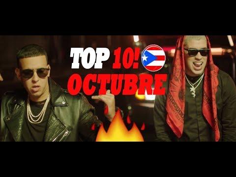 TOP 10 TRAP Puerto Rico (OCTUBRE 2017) // MEJORES CANCIONES DE TRAP EN PR