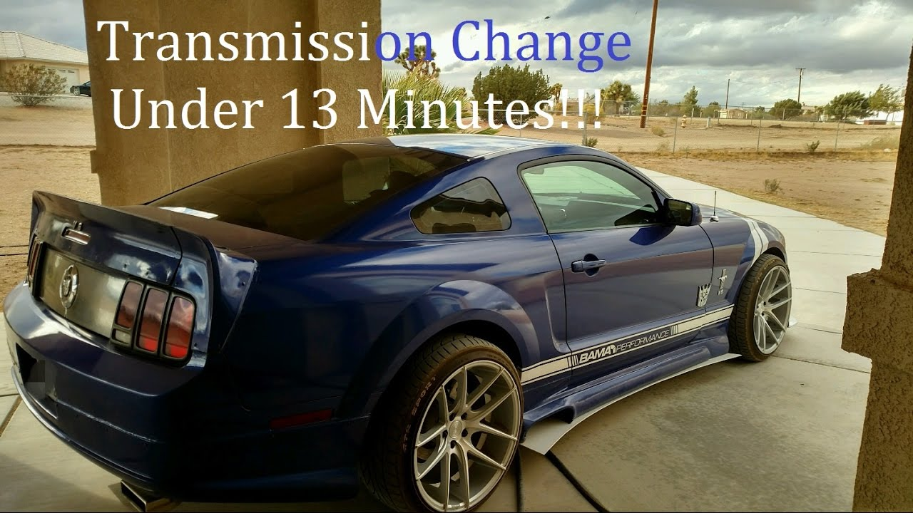 2005 2009 mustang 4 0l transmission replacement and fluid refill manual stick shift [ 1280 x 720 Pixel ]