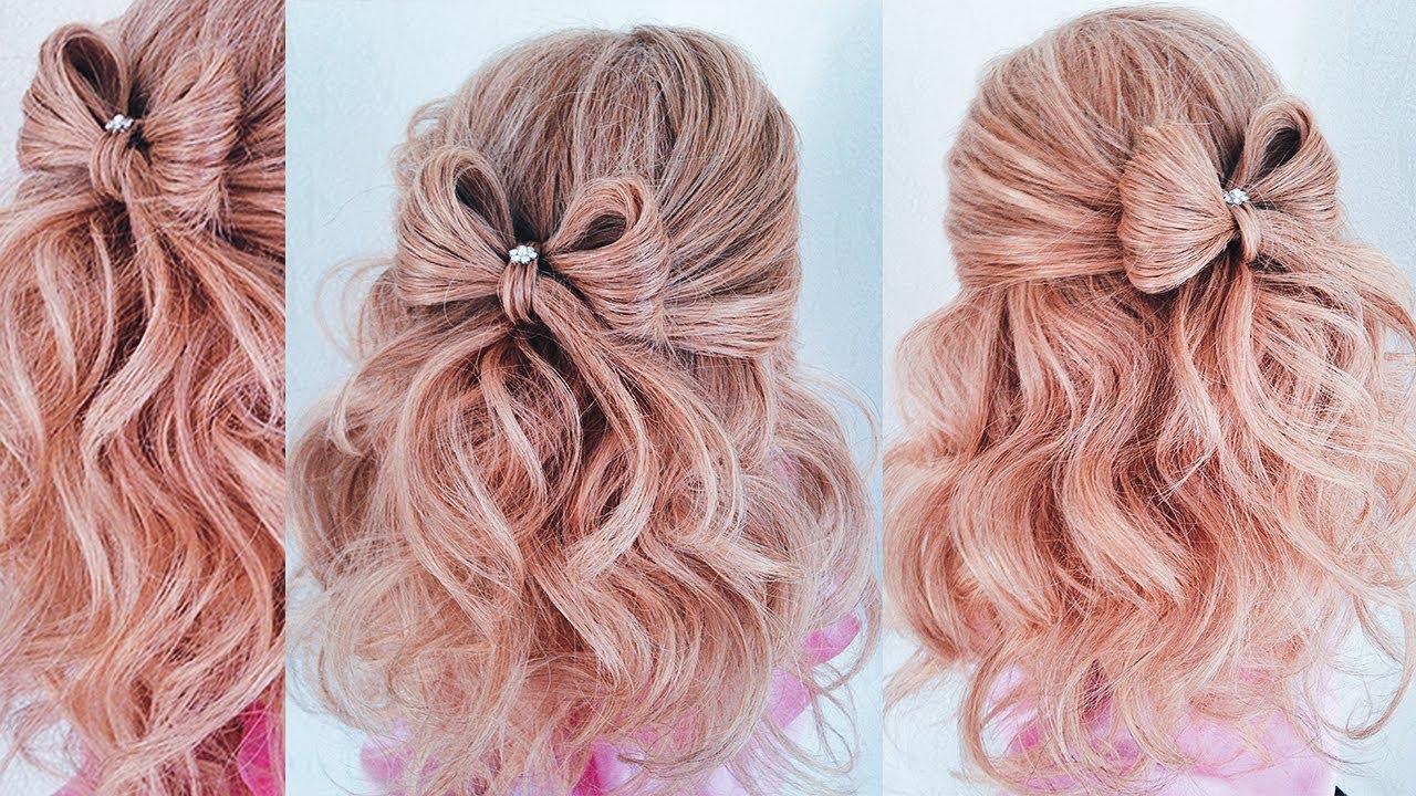 прическа из волос бант фото