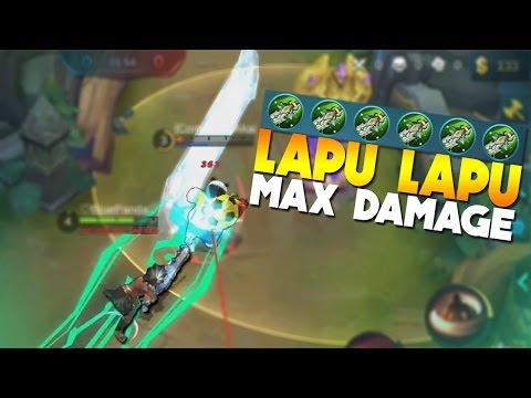 Mobile Legends Lapu Lapu MAX Damage Build!