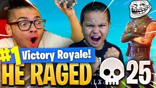 9 YEAR OLD KID GETS IMPULSED OUT THE MAP! *HE RAGED SUPER HARD* FORTNITE FUNNY BATTLE ROYALE MOMENTS