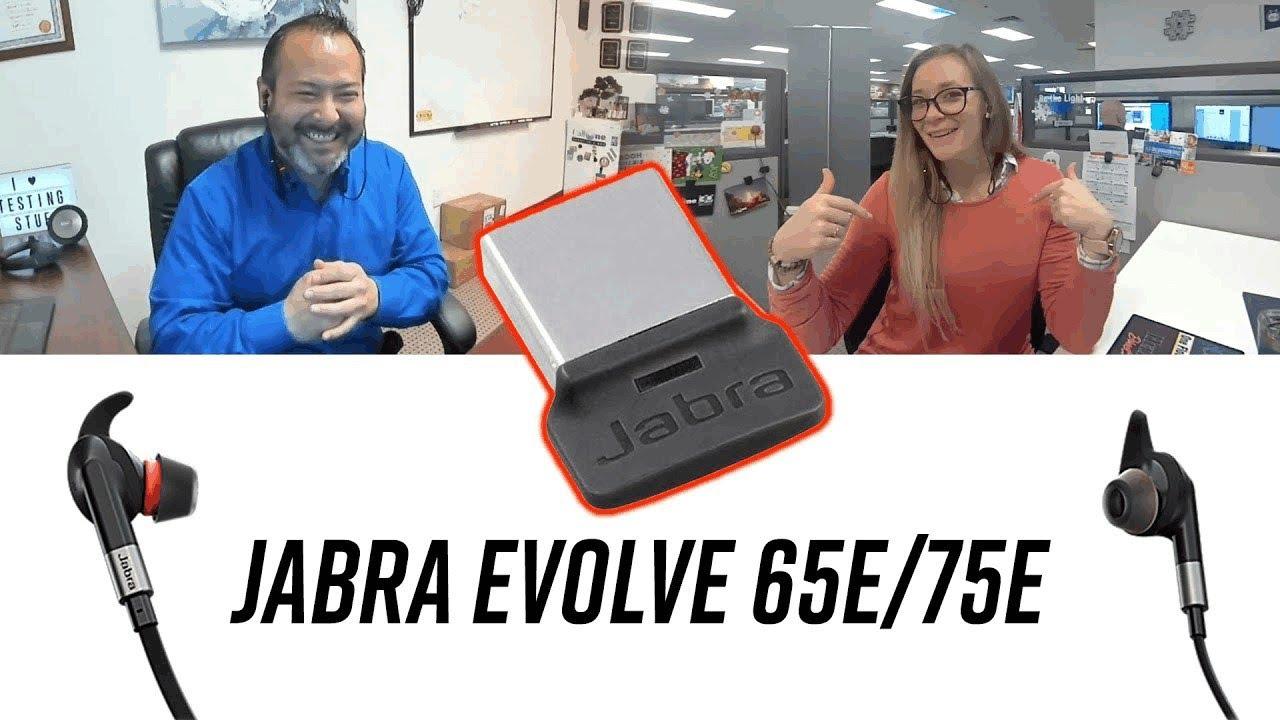 Jabra Evolve 65e 75e Zoom Call Quality With Usb Dongle Youtube