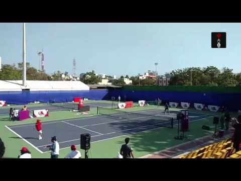 Chennai Open: Leander Paes Practices With A Kid