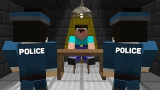 Minecraft NOOB vs PRO : POLICE ARE QUESTIONING THE NOOB! For WHAT? IN MINECRAFT