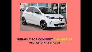 Renault Zoe comment changer le filtre d'habitacle