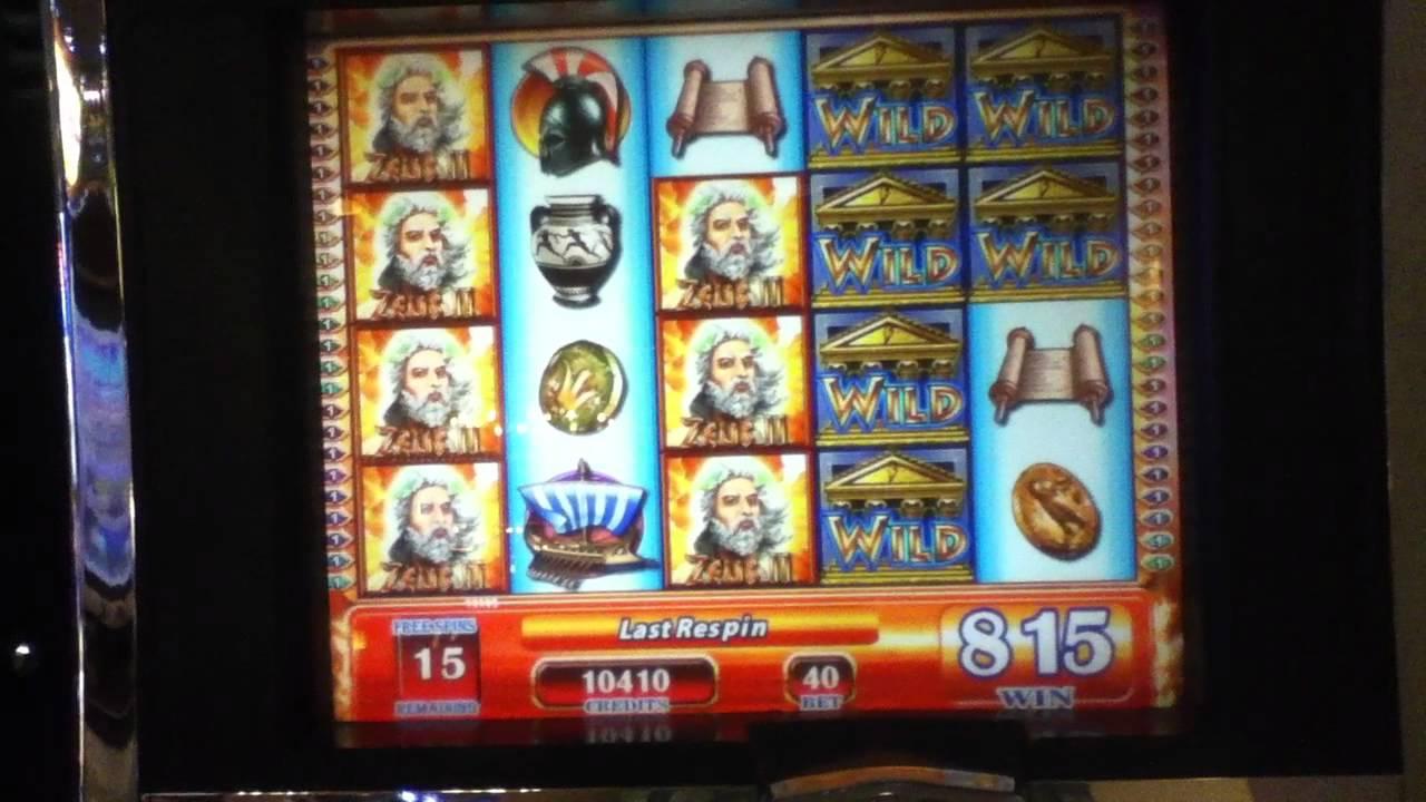 zeus ii slot machine