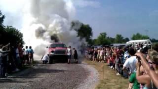 1200hp Turbo Diesel Ford F-350 Burnout.3gp