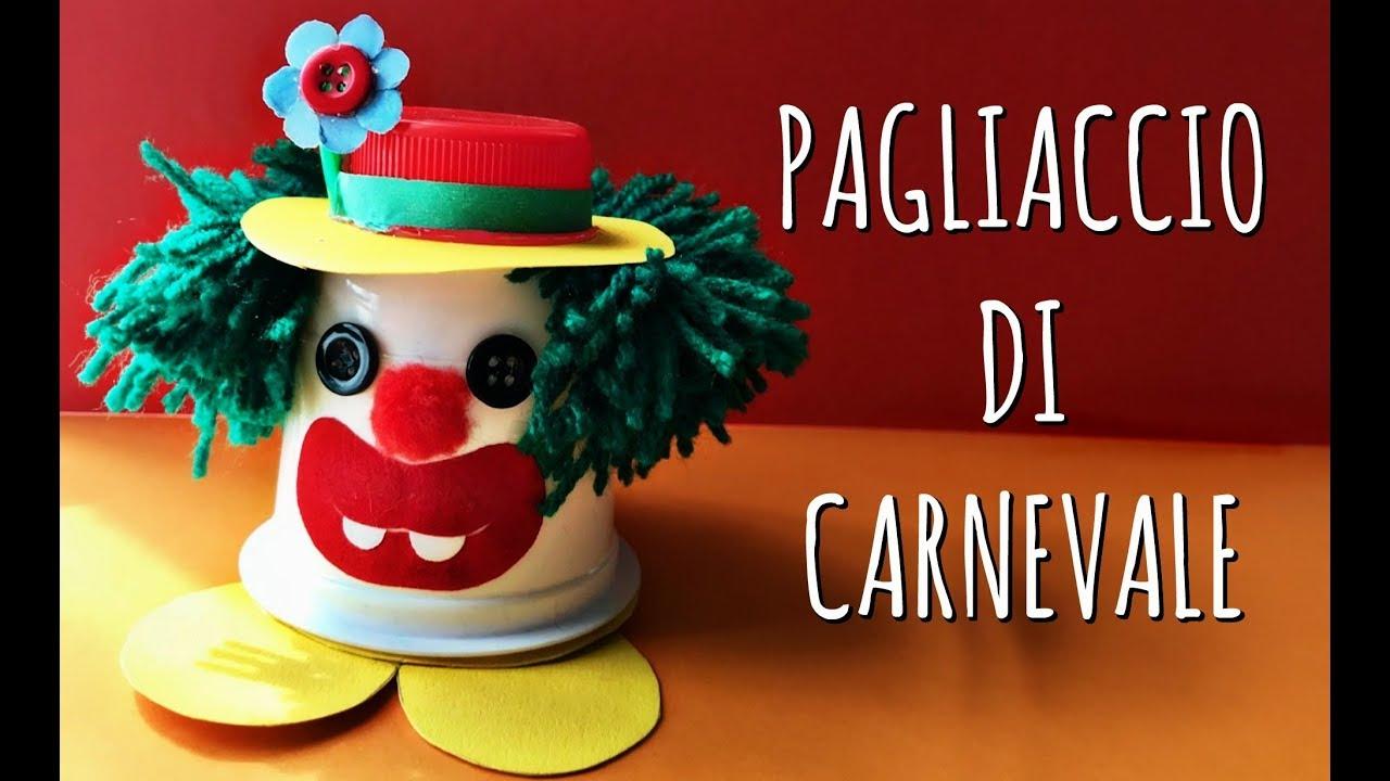 Pagliaccio Di Carnevale Porta Coriandoli Con Vasetto Di Yogurt