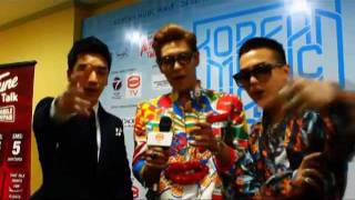 20110924 Korean Music Wave 2011 Interviews [GD&TOP&VI]