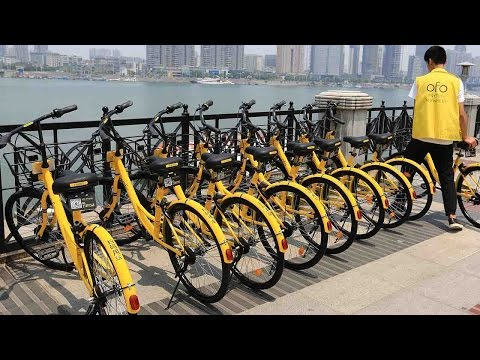 China's bike-sharing schemes hit UK streets