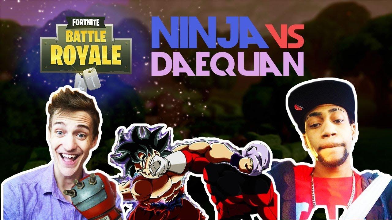Ninja Vs Daequan Insane 1v1 Fortnite Youtube