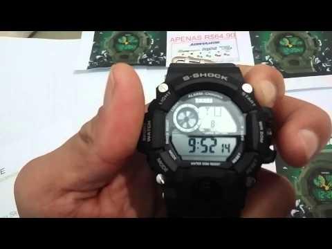 Como regular a hora do relógio Skmei S-Shock Digital