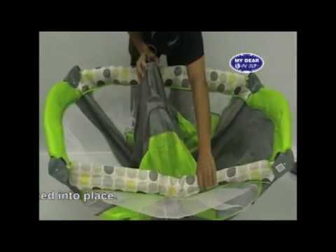 HOW TO FOLD AND UNFOLD YOUR  PLAYPEN/ PLAYARD.flv