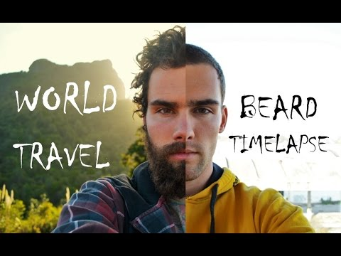 World Travel Beard Time Lapse - Growing a Beard around the globe!