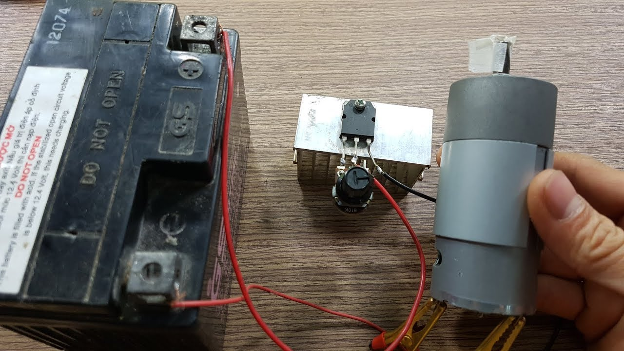 how to make a simple dc motor speed controller  basic 12 volt motor wiring #11